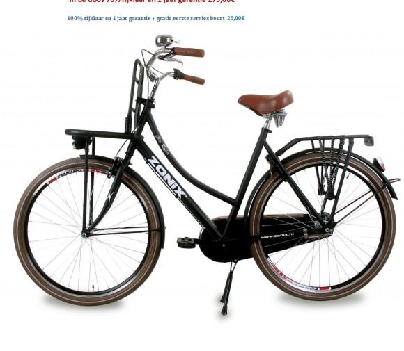 Zonix City Reflex 26 inch Zwart,wit,Mat Zwart 275,00€