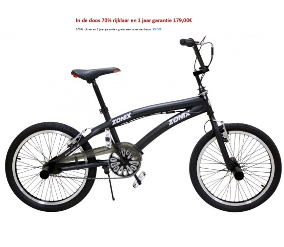 Zonix Free Style BMX 20 inch Matzwart 179,00€