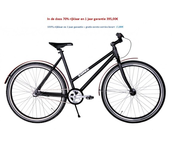 Zonix City Urban 28 inch shimano nexus 3 speed Mat Zwart 395,00€