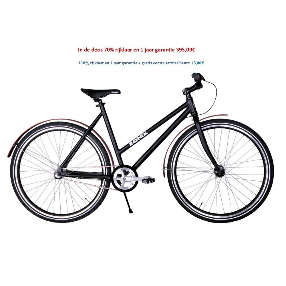 Zonix City Urban 28 inch shimano nexus 3 speed Mat Zwart 395,00€