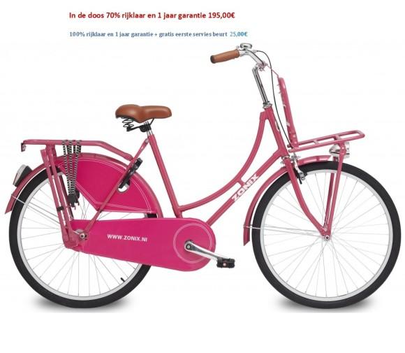 Zonix omafiets 26 inch Blauw,Licht Creme,Mat Zwart,Paars,roze, met Voordrager 195,00€