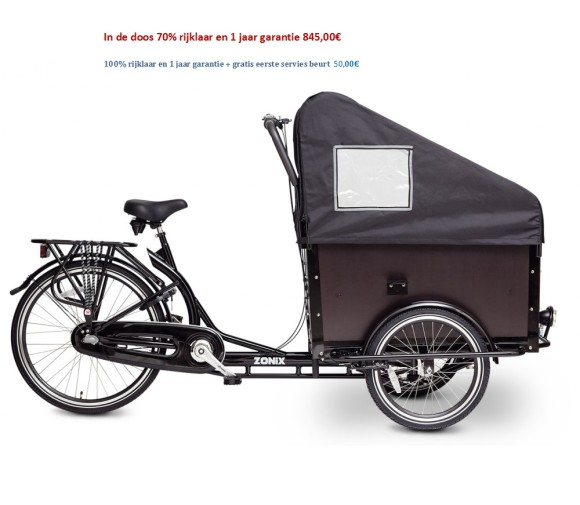 Zonix Bakfiets Shimano Nexus 3 speed 845,00€