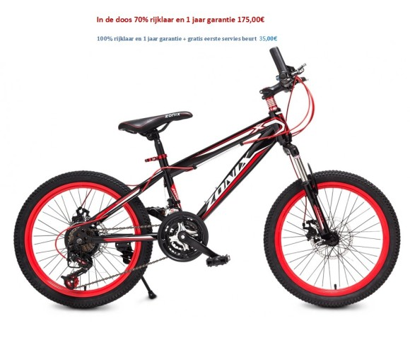 Zonix MTB 20 inch Rood,wit 175,00€