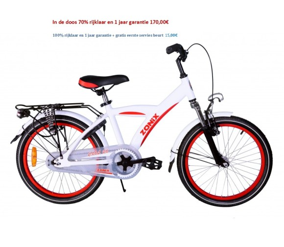 Zonix Cool Boys 20 inch wit,Zwart 170,00€