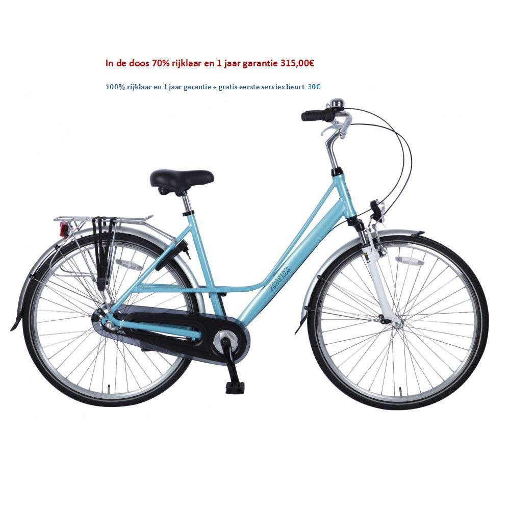 Zonix Damesfiets 28 inch lichtblauw,lichtrood 315,00€
