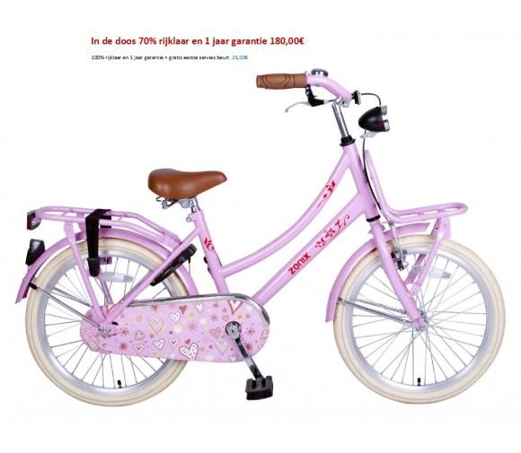 Omafiets 20 inch licht blauw,matzwart,roze,wit met Voordrager 180,00€