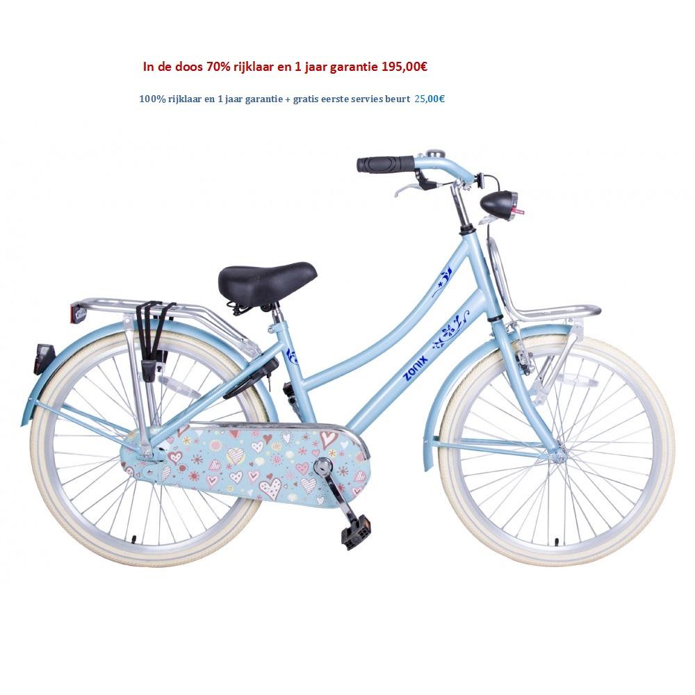 Omafiets 24 inch licht blauw,matzwart,roze, wit, met Voordrager 195,00€
