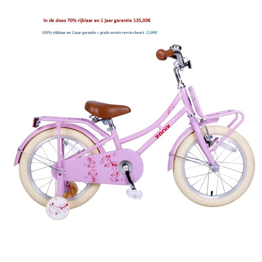 Omafiets 16 inch wit,roze,licht groen  met Voordrager 135,00€