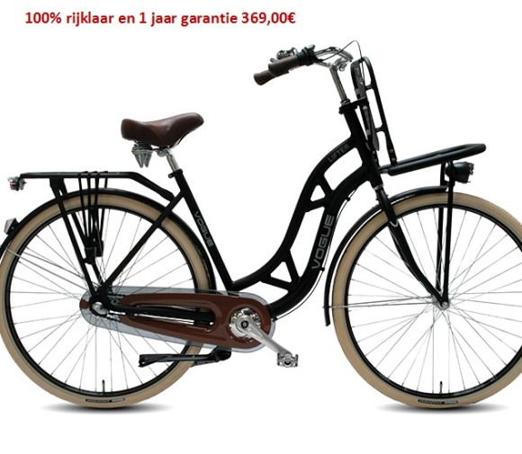 Vogue Lifter Matt-Black (Nexus) 3 speed gratis eerste servies beurt   369,00€