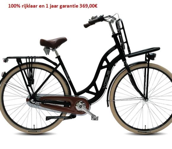 Vogue Lifter Matt-Black (Nexus) 3 speed gratis eerste servies beurt   369,00€