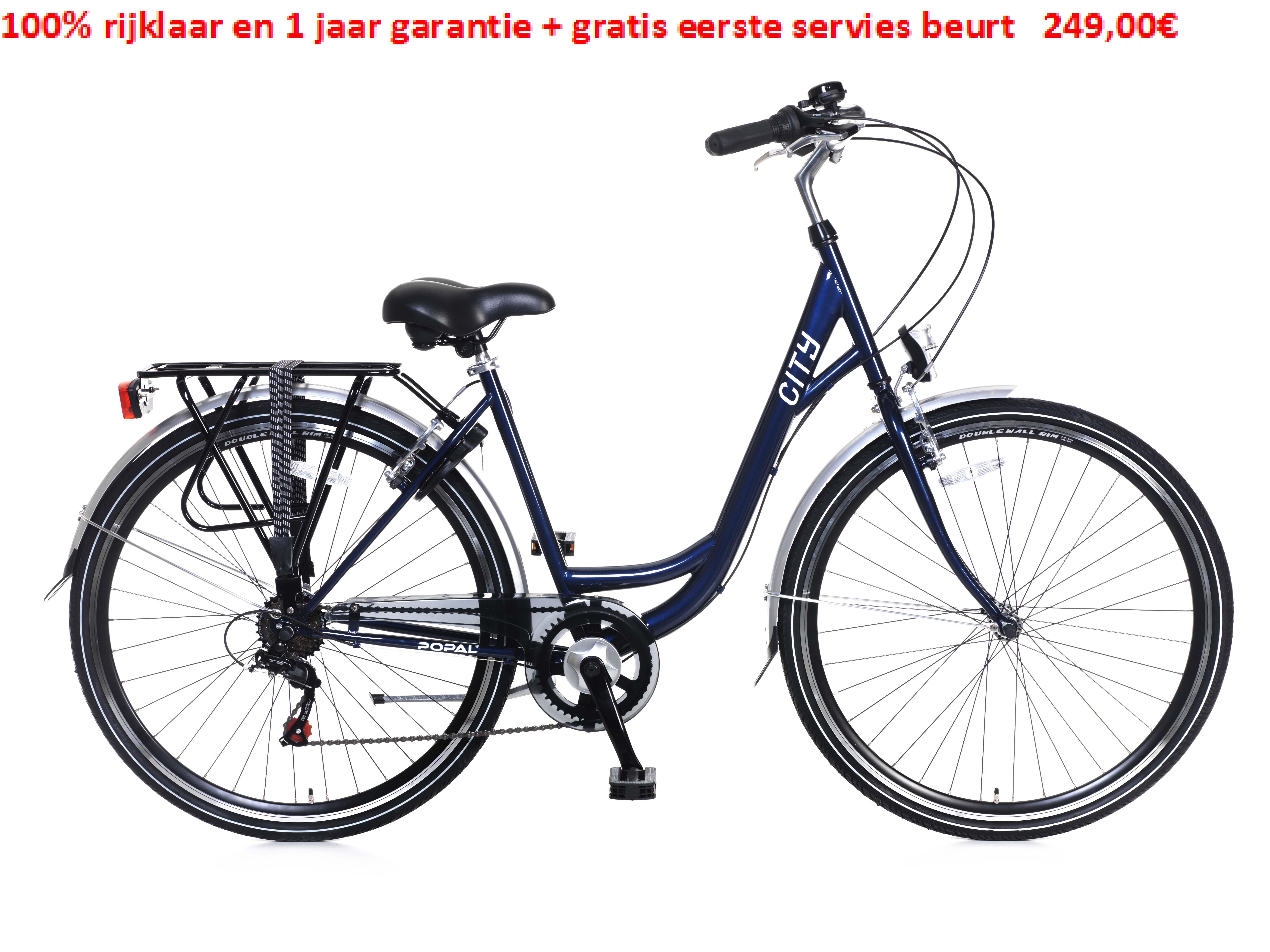 City 6 SPEED 100% rijklaar en 1 jaar garantie + gratis eerste servies beurt   249,00€