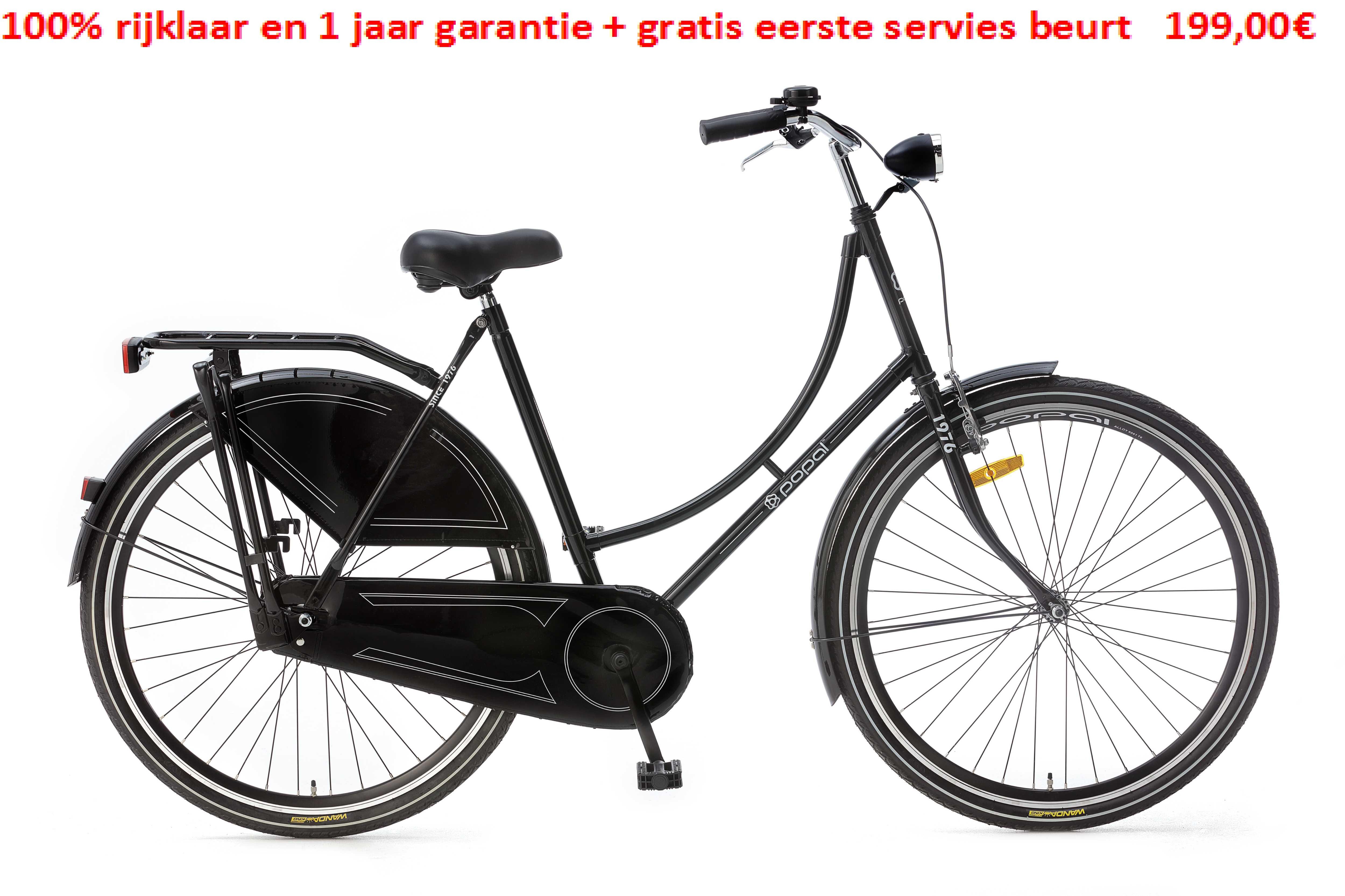 Omafiets 28 Basic 1speed 100% rijklaar en 1 jaar garantie + gratis eerste servies beurt   199,00€