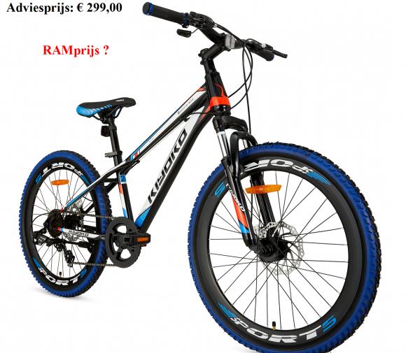 Kiyoko Mountainbike 24    Adviesprijs: € 299,00         RAMprijs ?