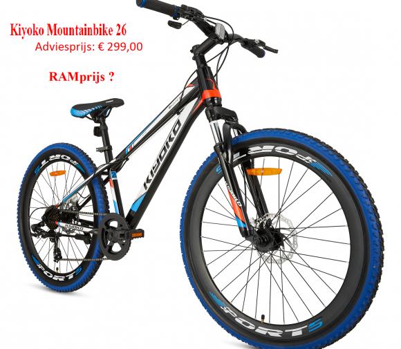 Kiyoko Mountainbike 26  Adviesprijs: € 299,00         RAMprijs ?