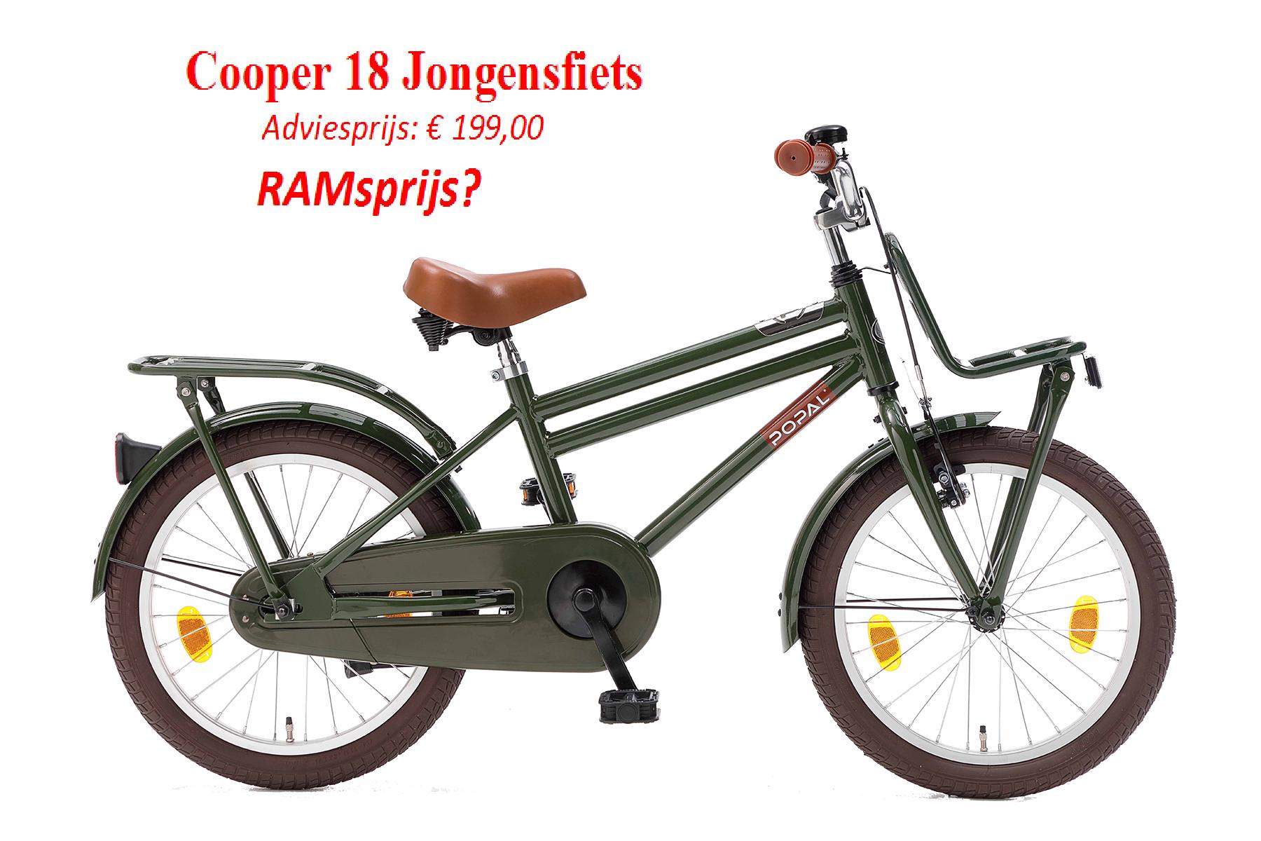 Cooper 18 Jongensfiets   Adviesprijs: € 199,00         RAMsprijs?